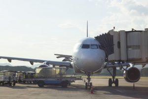 air plane prepare loading bag passenger transport