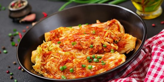 Chinese cabbage. Kimchi cabbage. Korean traditional food
